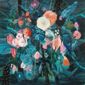 Nightflowers - Acrylic on canvas - 100 cm x 100 cm - 2014
