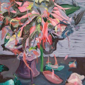 Flowers In Bloom / Acrylic on canvas / 80 cm x 80 cm / 2014