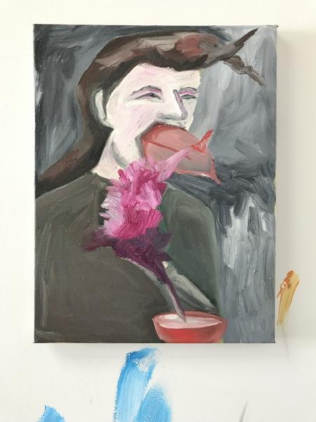Selfportrait / Acrylic on canvas / 40 cm x 30 cm / 2017