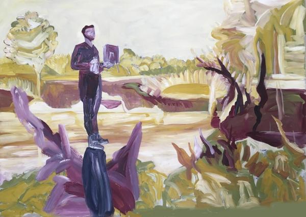 The Wine Carrier / Acrylic on canvas / 100 cm x 120 cm / 2017