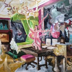 Untitled / 107 x 133 cm / Oil on MDF  / 2018 /