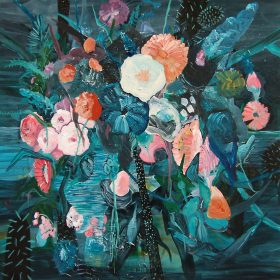 Nightflowers / Acrylic on canvas / 100 cm x 100 cm / 2014