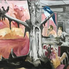 The Last Cigarete / Acrylic on canvas / 95 cm x 140 cm / 2017