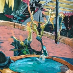 Swimming pool / Acrylic on canvas / 140 cm x 95 cm / 2017