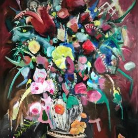 Giant Flowers / 190 cm x 160 cm / Oil on canvas / 2019