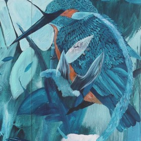 Kingfisher / Wallpainting / 450 cm x 450 cm / 2016