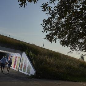 Skælskør, 28. august 2019:Udsmykning i tunnel under Norvejen - Mia-Nelle Drøschler, Visual Artist© Lars Rønbøg