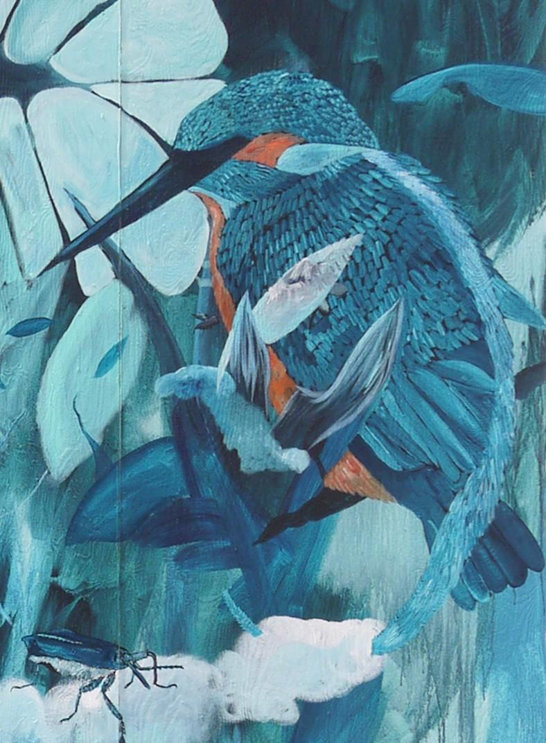 Kingfisher / Wallpainting / 450 cm x 450 cm / 2016