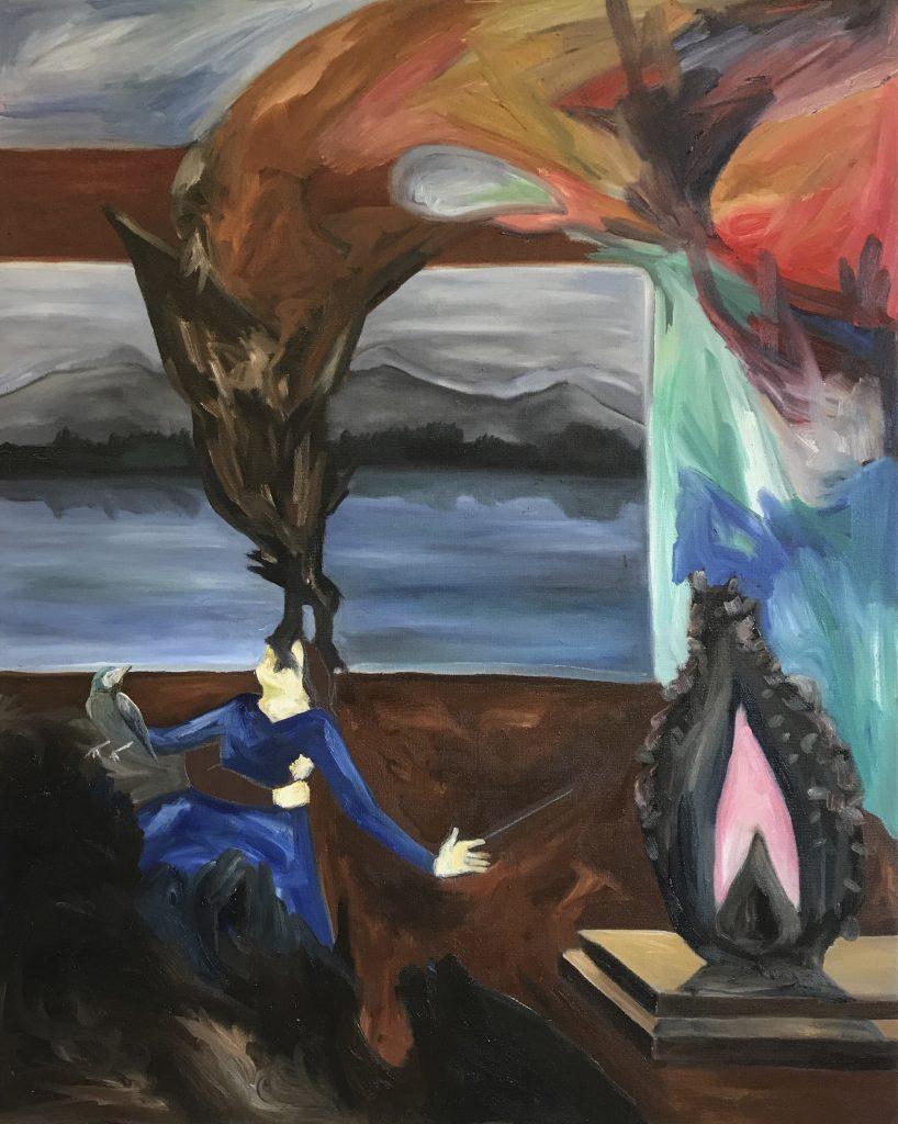Wishing Stone? / 100 cm x 80 cm / Oil on canvas / 2019